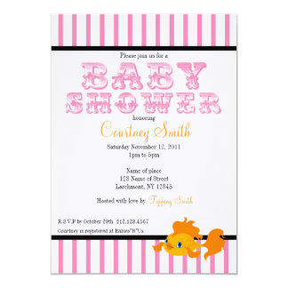 Hot Pink Carnival Themed Invitation