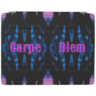 """Hot pink """"Carpe Diem"""" Seize the Day on Abstract iPad Smart Cover"""