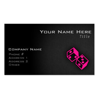 Hot Pink Casino Dice Double-Sided Standard Business Cards (Pack Of 100)