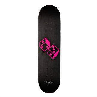 Hot Pink Casino Dice Skateboard Deck