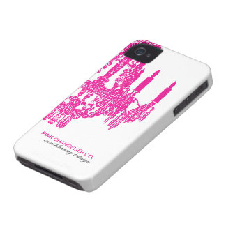 """Hot Pink Chandelier Pattern"" Case-Mate iPhone 4 Case"