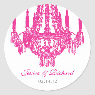 Hot Pink Chandelier Stickers