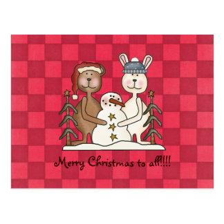 Hot Pink Cheer Christmas postcard