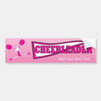 Hot Pink Cheerleader Bumper Sticker