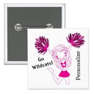 Hot Pink Cheerleader Girl | DIY Text Button