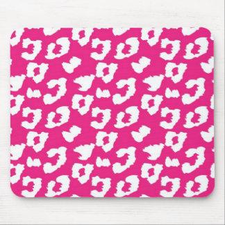Hot Pink Cheetah Leopard Print Mouse Pad