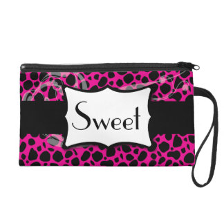 Hot Pink Cheetah Sweet Wristlets