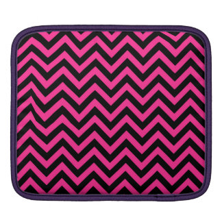 Hot Pink Chevron 2 Sleeve For iPads