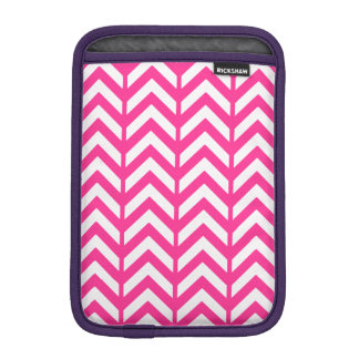 Hot Pink Chevron 3.png Sleeve For iPad Mini