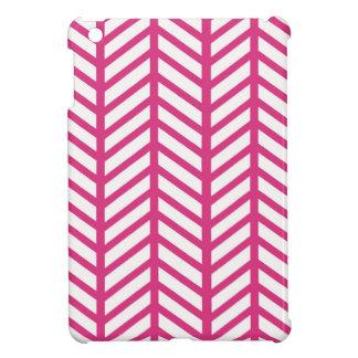 Hot Pink Chevron Folders iPad Mini Cover