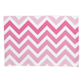 Hot Pink Chevron Ombre ZigZag Pattern Pillow Case