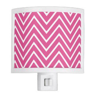 Hot Pink Chevron Pattern 2 Night Light