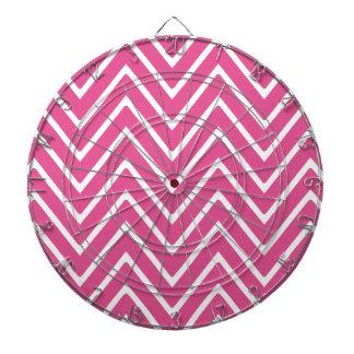 Hot Pink Chevron Pattern 2 Dartboards