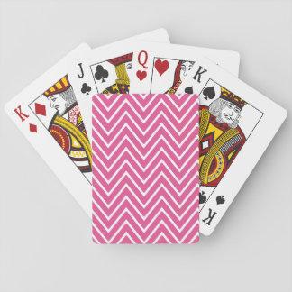 Hot Pink Chevron Pattern 2 Card Deck
