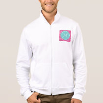 Hot Pink Chevron Pattern | Teal Monogram Jacket