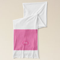 Hot Pink Chevron | Your Monogram Scarf