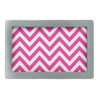 Hot Pink Chevron zigzag Pattern Belt Buckle