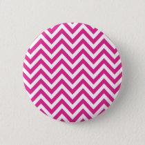 Hot Pink Chevron zigzag Pattern Button