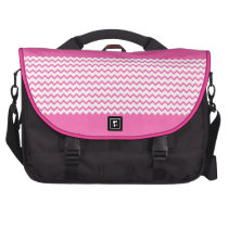 Hot Pink Chevrons Zig Zag Commuter Laptop Bag at Zazzle