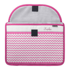 Hot Pink Chevrons Zig Zag Girly Macbook Pro 13