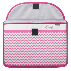 Hot Pink Chevrons Zig Zag Girly Macbook Pro 15