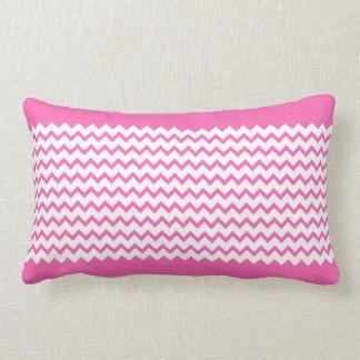 Hot Pink Chevrons Zig Zag Lumbar Pillow