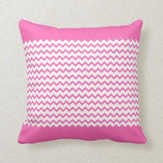 Hot Pink Chevrons Zig Zag Throw Pillow