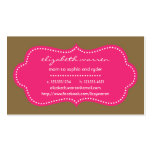 Hot Pink Chic Moderna Mommy Calling Card Business Card