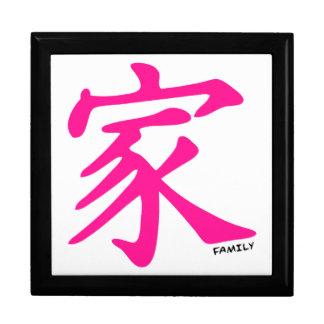 Hot Pink Chinese Family symbol Jewelry Box