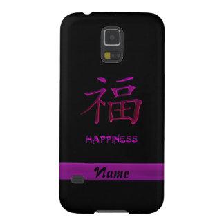 Hot Pink Chinese Happiness Kanji Galaxy S5 Case