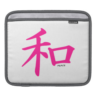 Hot Pink Chinese Peace Sign iPad Sleeve