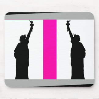 Hot Pink Color Mousepad Black Bold Fun Gifts