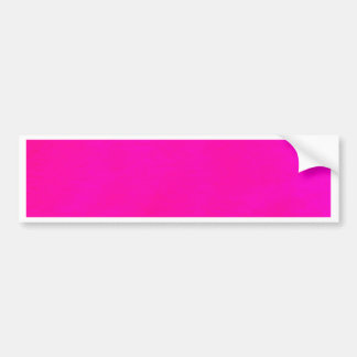 Hot Pink Color Only - The World Without Design Bumper Sticker