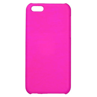 Hot Pink Color Only - The World Without Design iPhone 5C Cover