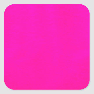 Hot Pink Color Only - The World Without Design Square Sticker