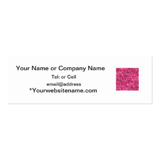Hot pink color swirl pattern of texture mini business card