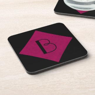 Hot Pink Color Velvet Custom Home Casino Drink Coasters