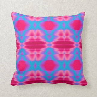 Hot Pink Cool Blue Abstract Throw Pillow