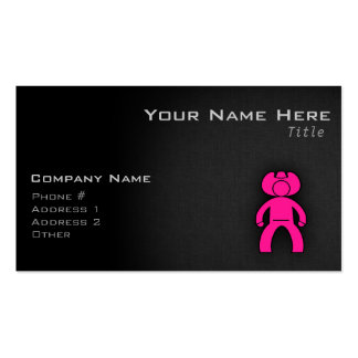 Hot Pink Cowboy; Cowgirl Business Cards