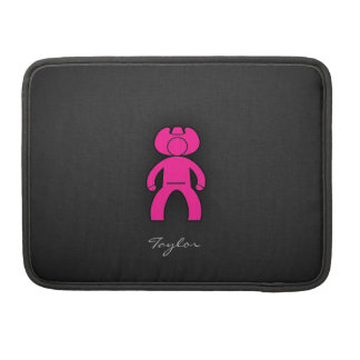 Hot Pink Cowboy; Cowgirl Sleeve For MacBook Pro