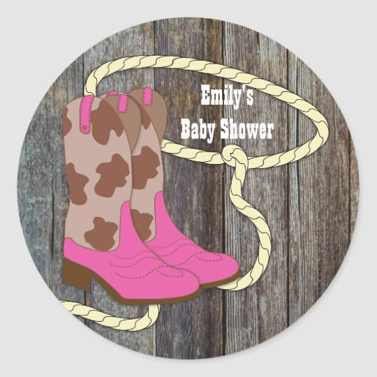 Hot Pink Cowgirl Stickers