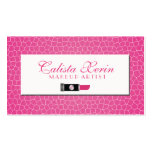 Hot Pink Crackle Double-Sided Standard Business Cards (Pack Of 100)