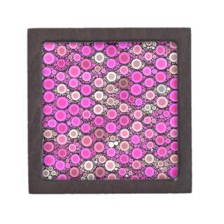 Hot Pink Cream Polka-dot Jewelry Box