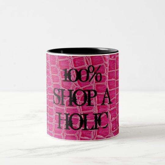Hot Pink Croc Crocodile Skin Faux Coffee Mug Cup