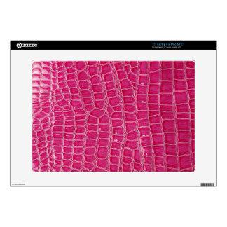 Hot Pink Croc Crocodile Skin Faux Computer Skin Laptop Skins
