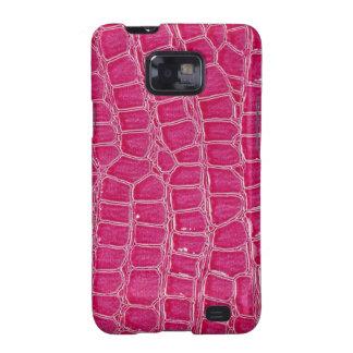 Hot Pink Croc Crocodile Skin Samsung Galaxy Case Samsung Galaxy SII Cover