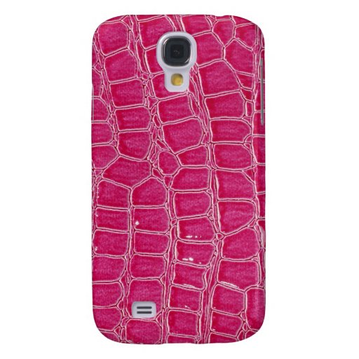 Hot Pink Croc Faux Digital iPhone 3 Speck Case Galaxy S4 Cases