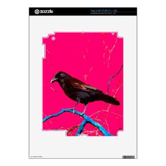 Hot Pink Crow iPad 2 Skin