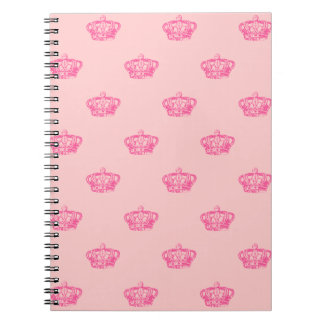 Hot Pink Crowns Note Book