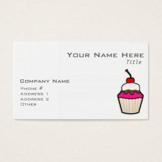 Hot Pink Cupcake Business Card
